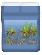 A Greening Marshland Duvet Cover