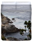A Grey Day At Big Sur Duvet Cover