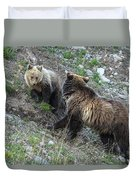 A Grizzly Moment Duvet Cover