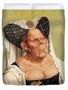 A Grotesque Old Woman Duvet Cover