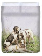 A Group Of French Hounds Duvet Cover