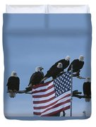 A Group Of Northern American Bald Duvet Cover