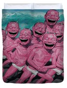 A Group Of People Laugh Duvet Cover