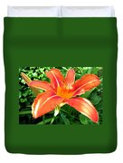 A Grrreat Tiger Lily Duvet Cover