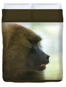 A Guinea Baboon At The Lincoln Duvet Cover