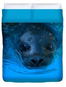 A Harbor Seal At The Lincoln Childrens Duvet Cover