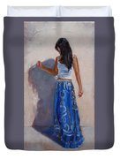 A Harmony Of Blues Duvet Cover by Laura Lee Zanghetti
