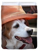 A Hat For Buddy Duvet Cover