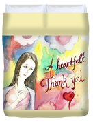 A Heartful Thank You Duvet Cover