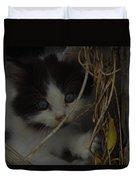 A Hiding Kitten Duvet Cover