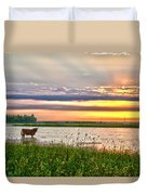 A Highland Cow In The Lowlands Duvet Cover