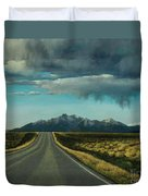 A Highway To The Rockies Duvet Cover