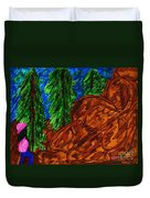 A Hike On A Park Trail Duvet Cover