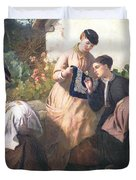 A Honiton Lace Manufactory Duvet Cover by Frederick Richard Pickersgill