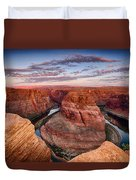 A Horseshoe Bend Morning  Duvet Cover