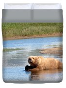 A Hot Day In The Hallo Bay Katmai National Park Preserve Duvet Cover