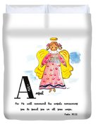 A Is For Angel Duvet Cover