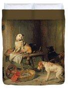 A Jack In Office Duvet Cover by Sir Edwin Landseer