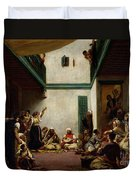 A Jewish Wedding In Morocco Duvet Cover by Ferdinand Victor Eugene Delacroix