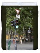 A Kiss In Budapest Duvet Cover