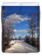 A Kootenai Wildlife Refuge Winter Duvet Cover