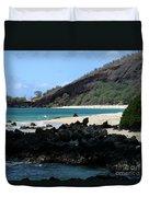 A L O H A  E Ala E Puu Olai Oneloa Big Beach Makena Maui Hawaii Duvet Cover
