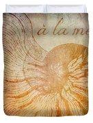 A La Mer Nautilus Duvet Cover