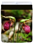 A Lady's Slippers Duvet Cover