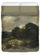 A Landscape With Tobias And The Angel Duvet Cover