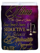 A Libra Is Duvet Cover by Mamie Thornbrue