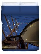 A Lifeboat Named Maria Boston Tall Ships 2017 Lighted Mast Boston Ma Duvet Cover