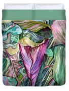 A Light In The Garden Duvet Cover