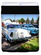 A Line Of Classic Antique Cars 3 Duvet Cover