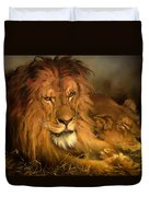 A Lion And A Lioness Duvet Cover
