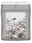 A Little Bird So Cheerfully Sings Duvet Cover