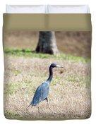 A Little Blue Heron Duvet Cover