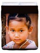 A Little Khmer Beauty Duvet Cover