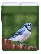 A Little Piece Of Sky Duvet Cover by Brandy Woods