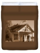 A Little Weathered Gas Station Duvet Cover
