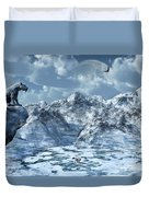 A Lone Sabre Toothed Tiger Perched Duvet Cover by Mark Stevenson