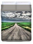 A Long Dakota Road Duvet Cover