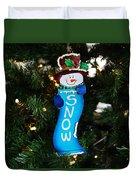 A Long Snow Ornament- Horizontal Duvet Cover