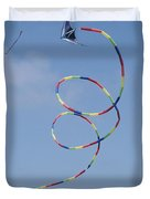 A Long-tailed Kite Soars Duvet Cover