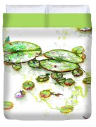 A Lotus Leaf Duvet Cover