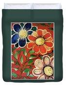 A  Trio Of Flowers Duvet Cover