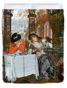 A Luncheon Duvet Cover by Tissot