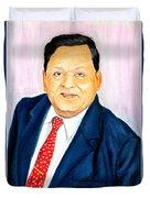 A M Naik Portrait Duvet Cover