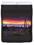 A Magical Desert Morning  Duvet Cover