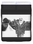 A Man And His Farm Duvet Cover