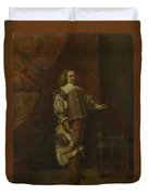 A Man In   Th Century Spanish Costume Duvet Cover